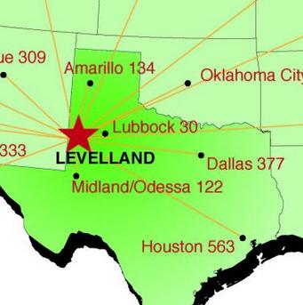 US Mileage Map Levelland Economic Development - Us mileage map