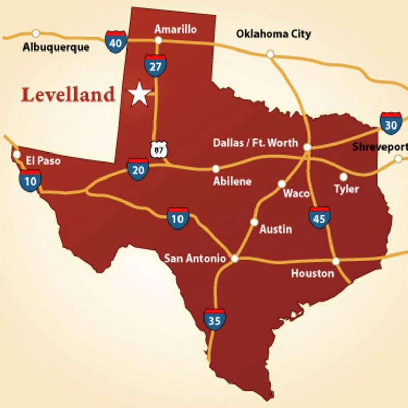 Levelland Texas Map
